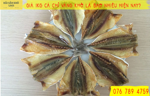 Giá 1kg cá chỉ vàng khô là bao nhiêu?