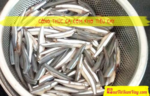 Công thức cá cơm kho tiêu cay