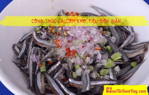 Công thức cá cơm kho tiêu đơn giản