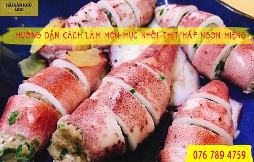 Món mực nhồi thịt hấp ngon miệng