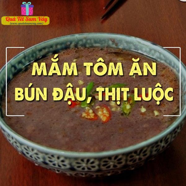 Công thức pha nước mắm tôm ăn bún đậu